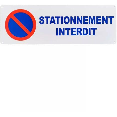 Large panneau extérieur 'STATIONNEMENT INTERDIT' - PVC résistant (42 x 14 cm)