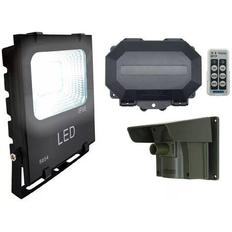 Projecteur LED sur détection passage armable 100% extérieure sans fil longue portée 800m - Récepteur IP56 (PROTECT 800)