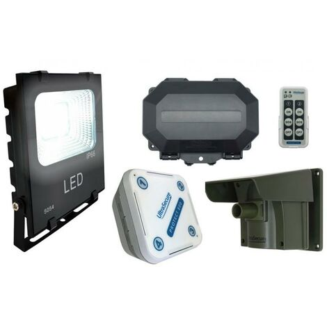 Projecteur LED détection passage armable 100% extérieure sans fil longue distance 800m - Double alerte (PROTECT 800)