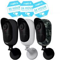 Pack 3 caméras / 3 coloris - 100% sans-fil autonomes IP / WIFI - Horaires / P65 / 1080P FHD / APP (Reolink Argus 2)