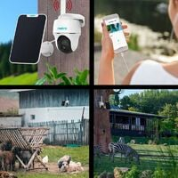 Caméra 4G rotative autonome 100% sans fil version FRANCE + panneau solaire / IP64 / 1080P / Détecte, enregistre, notifie