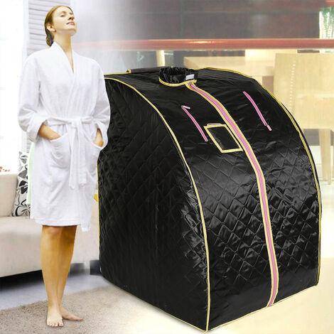 Boîte de sauna portable infrarouge - Spa a Domicile pour une Personne - Ideal pour la Desintoxication et la Perte de Poids