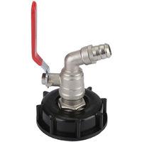 WYCTIN Raccord robinet en laiton chromé sortie raccord rapide S60x6 pour cuve 1000 litres