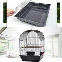 WYCTIN®Cage à Oiseaux 40 x 40 x 58 cm Cage pour Perruche Canari Calopsitte Corde de Jouet Ouverture Supérieure