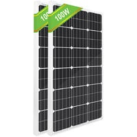 2PCS 100W 12V Mono Solar Panel 200W for Hiking Camping Vehicle Off Grid Kit