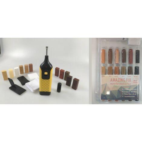 Laminatefixer Kit de réparation complet pour stratifié, parquet et autres meubles en bois - 25 pièces