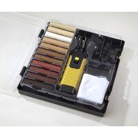 Laminatefixer Kit de réparation pour stratifiés et parquets avec tiges de cire dure de 11 couleurs
