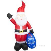 Christmas Gifts Père Noël gonflable - avec lumières - intérieur et extérieur - 210cm (h)