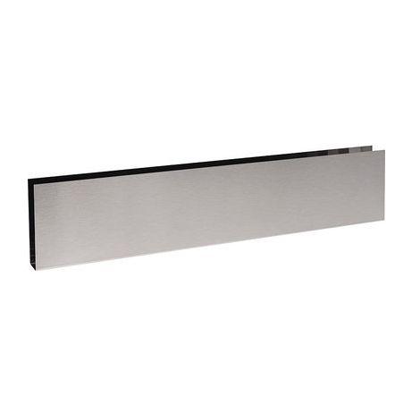 Plinthe de bas de porte en U Inox satiné - 730x150 - Duval