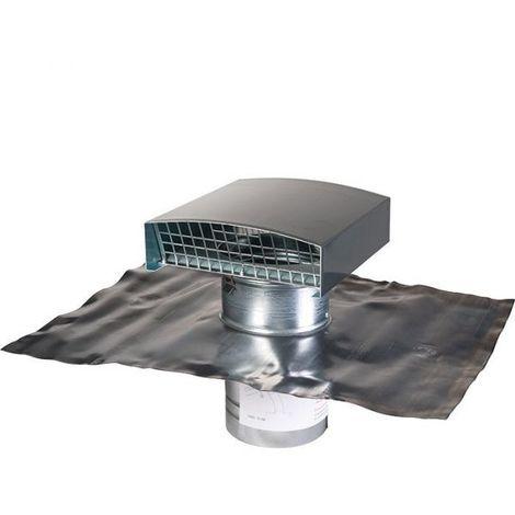 Sortie de toit finition ardoise - Ø 125 mm - VMC double flux - Anjos