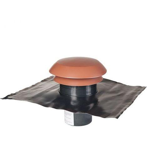 Chapeau de toiture plastique finition tuile - Ø 150 mm - CARA - Anjos