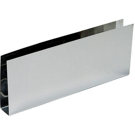 Plinthe bas de porte nox brillant - En U - 730 x 150 mm - Duval