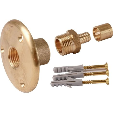 Applique sortie de cloison laiton à glissement - PER Ø 12 mm - F 1/2' - Watts industries