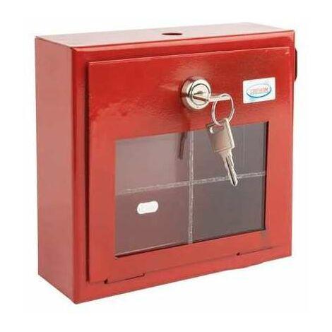 Boite à clef pour vanne police en tôle - Rouge - Coditherm