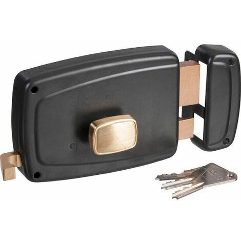 Serrure de porte de garage gauche à tirage - Clé I - Axe à 70 mm - Vachette