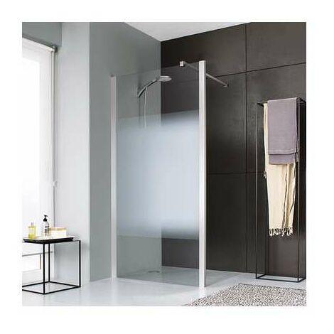 Paroi de douche ouverte dépoli dégradé Jazz Plus fixe 900 mm - Leda