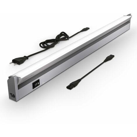 4x DEL plafond bacs Lampe éclairage Atelier D/'éclairage lumière du jour Cave Bureau