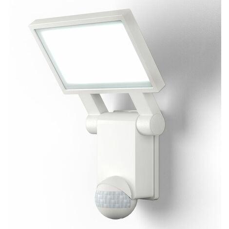 Applique murale LED extérieur avec détecteur de mouvements IP44 blanche jardin terasse blanche