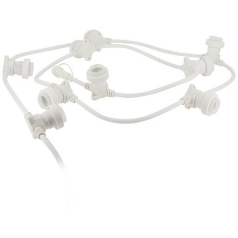XANLITE - Guirlande Guinguette LED Blanche, Compatible Ampoules E27, 5m Extensible - GRL5230VW