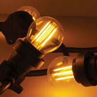 XANLITE - Guirlande Guinguette LED Noire, x10 Ampoules Vintage E27 Incluses, 5m Extensible - GRL5230VBP45F