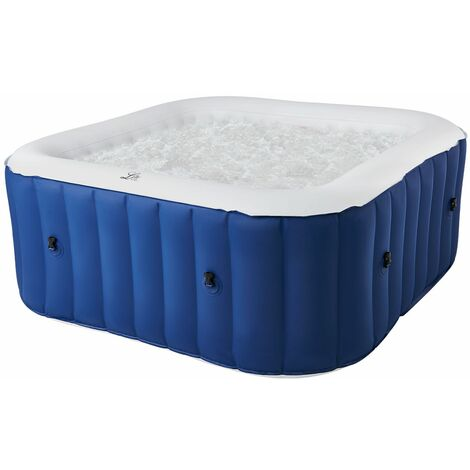 MSPA - Spa gonflable carré 158cm LITE - 4 places - Bleu