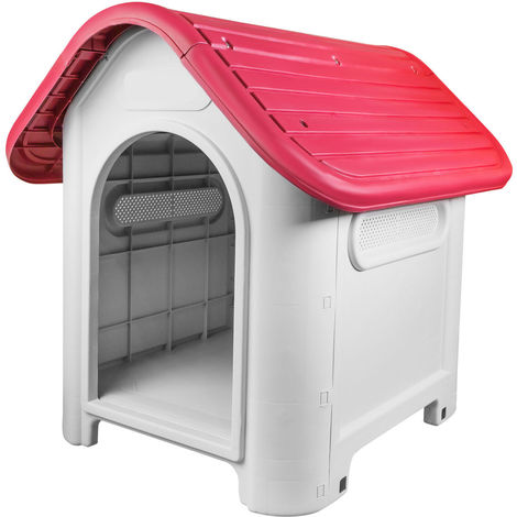 Plastic Pet Kennel - Red