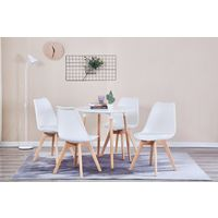 Large Round Dining Table - White