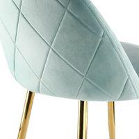 Genesis METIS Chair in Velvet Fabric x 2 - Blue Tint