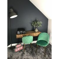 Genesis METIS Chair in Velvet Fabric x 2 - Bistro Green