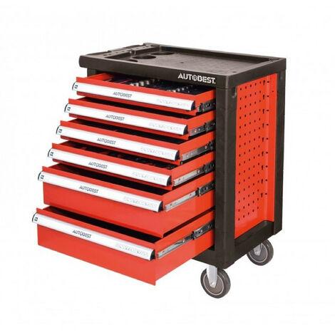 Servante d'atelier complète 6 tiroirs 170 outils