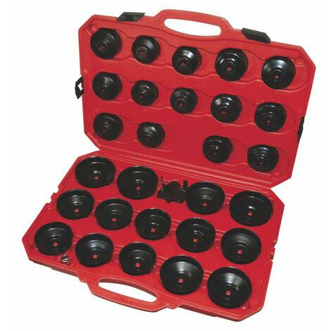 Coffret 28 cloches universelles pour filtre à huile - 30 pièces - AUTOBEST