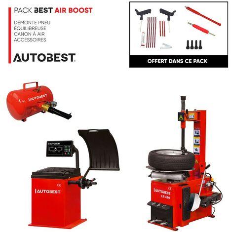 Pack BEST AIR BOOST démonte pneu, equilibreuse, canon à air et accessoires