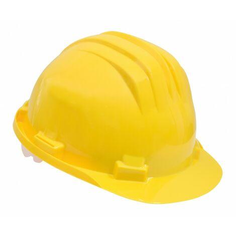 Casque de protection chantier jaune Taille 54-61cm Jaune - Jaune