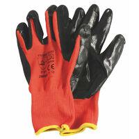 Gants dextérité étanche, taille L, rouge et noir - RONDY