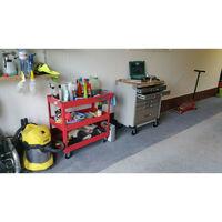 Servante atelier 6 tiroirs plateau bois - AUTOBEST