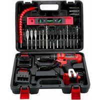 Perceuse visseuse a percussion sans fil TEENO PSR 21V + 2 Vitesses + 2 batteries lithium + 20 accessoires + gants professionnels