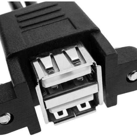Ballylelly USB 2.0 A Maschio a USB Femmina 2 Doppio doppio adattatore di alimentazione femmina USB Y Cavo di prolunga splitter Cavo di prolunga