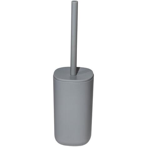 Kuba Collection Toilet Brush & Holder Grey