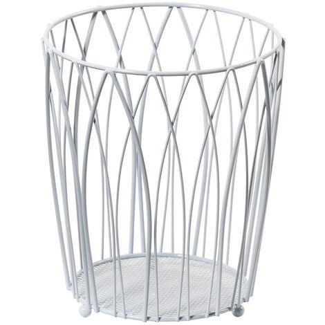 Vista Waste Paper Basket White