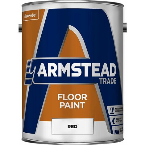 Armstead 5218612 Trade Floor Paint-Red (5 Litre)