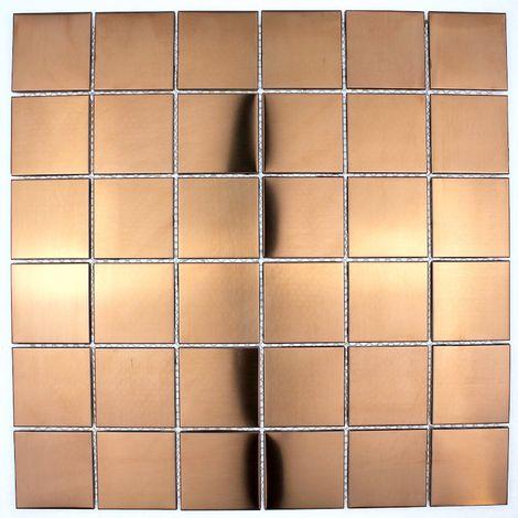 Baldosa de acero color cobre para pared de cocinareg48-cuivre