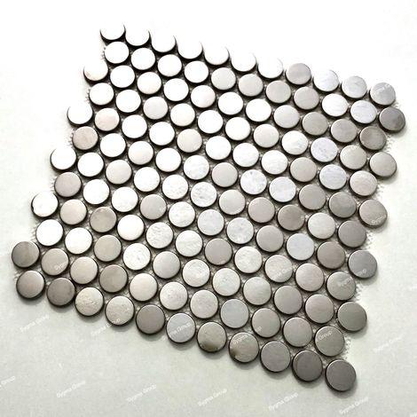 Malla mosaicos de acero inoxidable con efecto de espejo para las paredes de la cocina y el baño BERKO