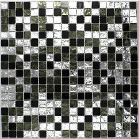 azulejos de mosaico cocina y baño Strass Nero