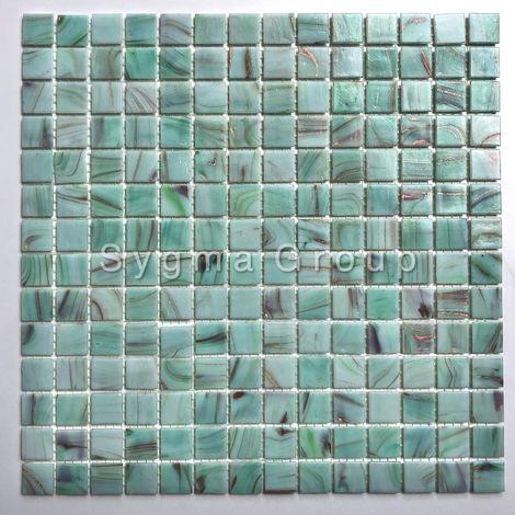 Azulejos y mosaicos de vidrio en el baño y la cocina Speculo Celadon