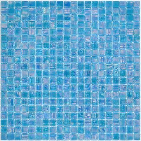 azulejos de mosaico de vidrio para el baño Imperial Bleu
