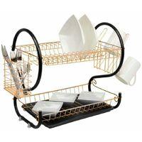 Neo Copper 2 Tier Chrome Plate Dish Drainer