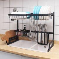 Neo Over Sink Kitchen Shelf Organiser Dish Drainer Drying Rack Utensils Holder 65cm