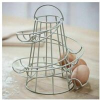 Neo White Kitchen Spiral Egg Holder - Holds up to 18 Eggs