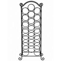 Neo Floor Standing Stainless Steel Black Finish Wine Rack