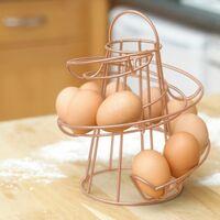 Neo Copper Kitchen Spiral Egg Holder - Holds up to 18 Eggs